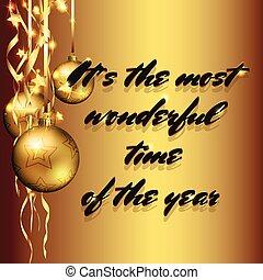 arany-, karácsony, háttér, apróságok