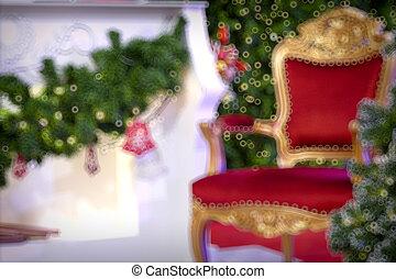 arany, karácsony, háttér, közül, de-focused, állati tüdő, noha, díszes, fa