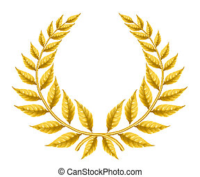arany-, koszorú, eps10