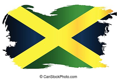 arany, lobogó, jamaica, fekete, határ, grunge, zöld