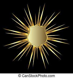 arany-, pajzs