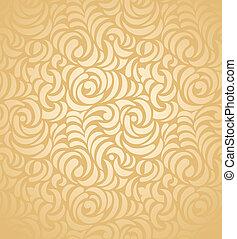 arany-, seamless, háttér