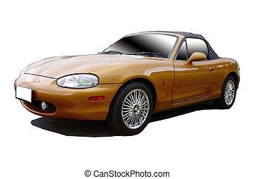 arany, sportkocsi