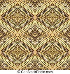 arany-, színes, motívum, lines., hullámos, retro, vég nélküli