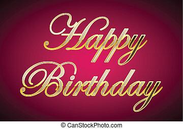 arany-, születésnap, boldog