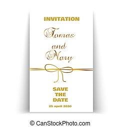 arany, szüret, íj, fényűzés, háttér, esküvő, egyenes, szalag