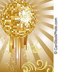 arany-, tükör labda