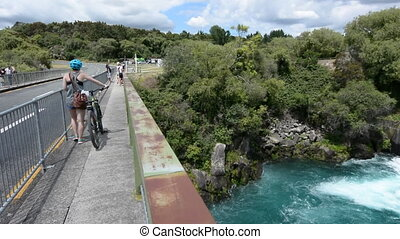 Aratiatia Rapids Dam opened spill gates. It's the first...