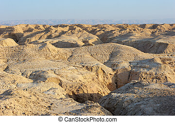 Arava desert in the first rays of the sun
