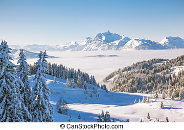Aravis Mountain Range from Les Gets