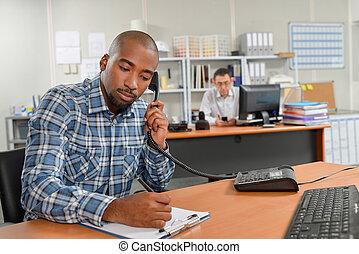 arbeider, boeiend, belangrijk, handleiding, roepen