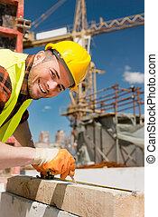 arbeider, bouwsector, goed