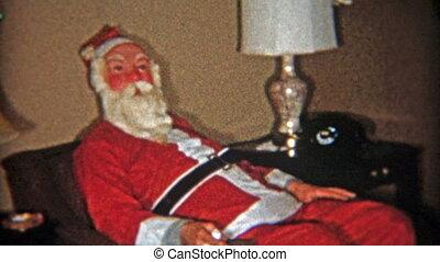 arbeidsschuw, 1953:, claus, op, kerstman, krijgt