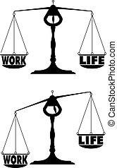 arbeit, 04, gleichgewicht, leben