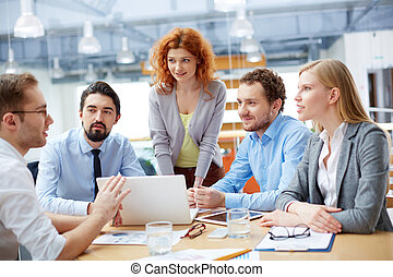 arbeit, Gruppe, Geschaeftswelt