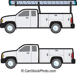 arbeit, lastwagen