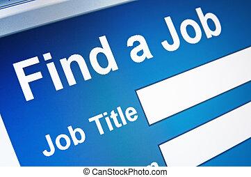 arbeit, suchen, online