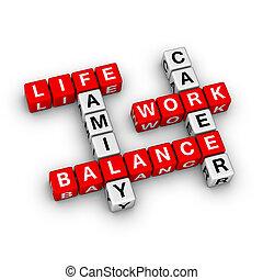 arbeit, und, leben, gleichgewicht
