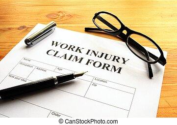 arbeit, verletzung