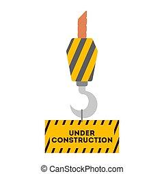 arbeiten, straße, barrier., baugewerbe, zeichen., orange, warnung