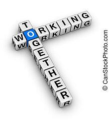 arbeitend zusammen