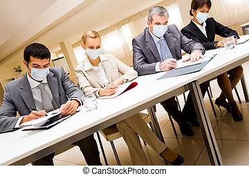 arbeitende , masken