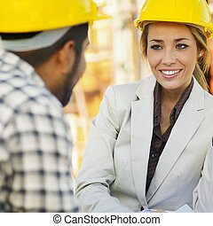 arbeiter, baugewerbe, architekt