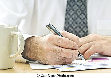 arbeiter, buero, berichte, schreibende