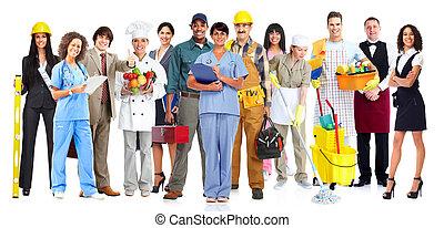 arbeiter, group., leute