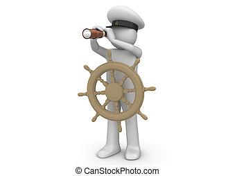 arbeiter, kapitän, -, sammlung