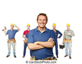 arbeiter, mannschaft