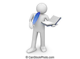 arbeiter, sammlung, -, schriftsteller