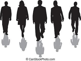 arbeiter, silhouette