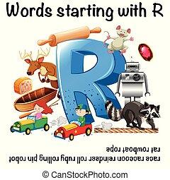 Arbeitsblatt, beginnen, t, wörter, englisches . Arbeitsblatt ...