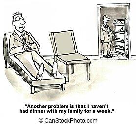 arbejde, behøve, balance, liv