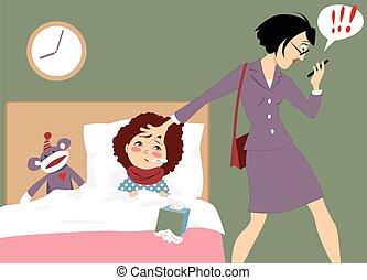arbejde mor