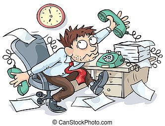 arbejder, kontor