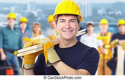 arbetare, carpenter.