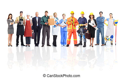arbetare, folk