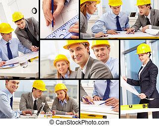 arbete, arkitekter