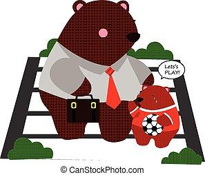 arbete, björn