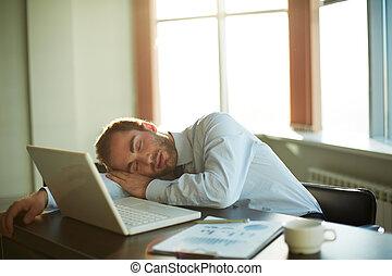 arbete, sova