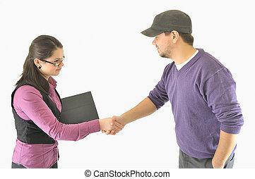 arbetsgivare, hand skälv