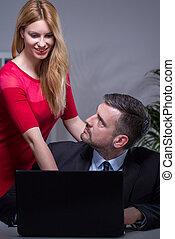 arbetsgivare, och, assistent