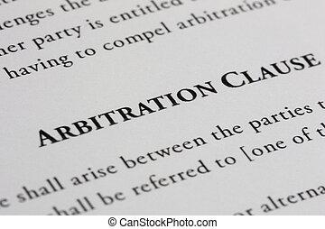 arbitrage, clausule