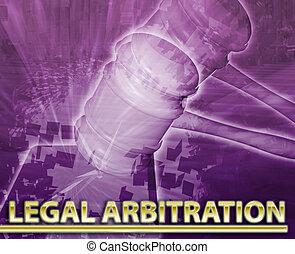 arbitrage, concept, résumé, légal, illustration, numérique
