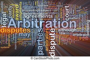 arbitrage, gloeiend, concept, achtergrond