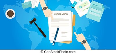 arbitrage, international, médiation, tribunal