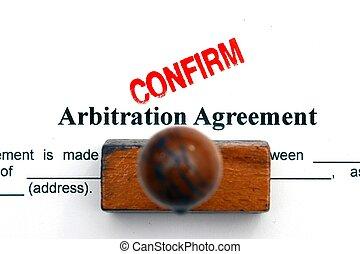 arbitrage, overeenkomst
