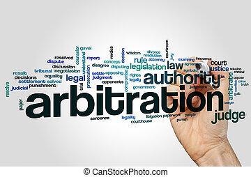 arbitrage, woord, wolk